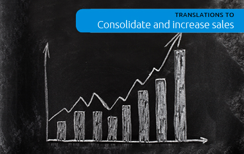 Translations to consolidate and increase sales