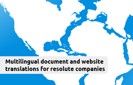 Multilingual document and website translations for resolute companies