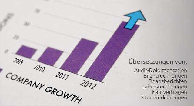 Übersetzung von Finanzberichten, Bilanzrechnungen und Audits