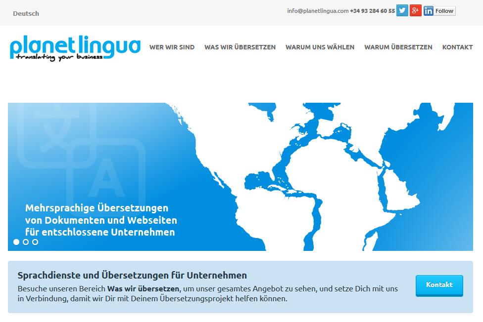 traducción paginas web al alemán