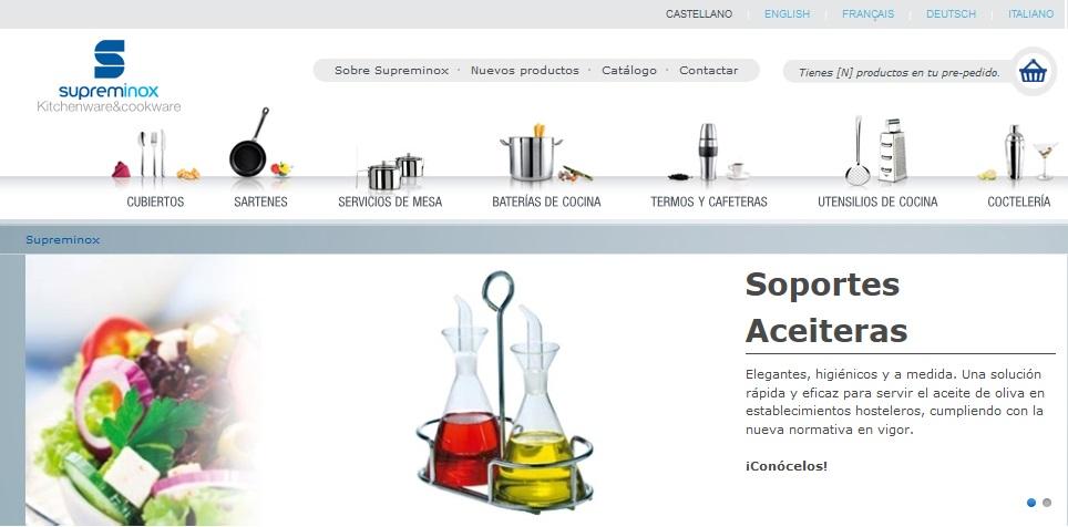 traducción de paginas web para empresas, web supreminox