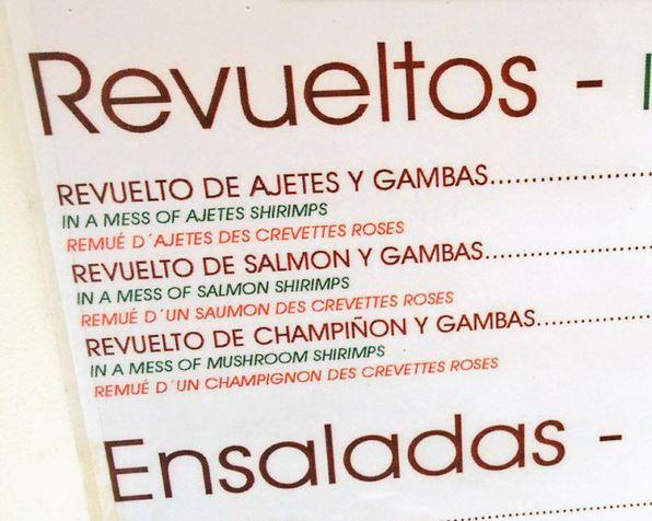 errores en traducciones menus restaurantes