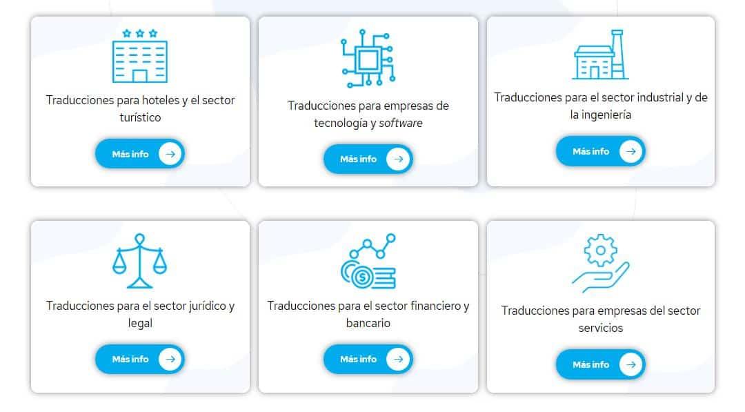 agencia traduccion barcelona sectores
