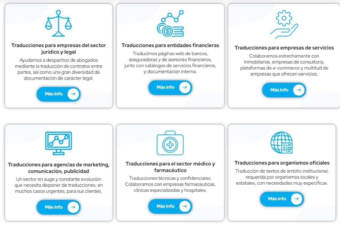 agencia traduccion madrid, mejor agencia traduccion madrid, sectores agencia traduccion